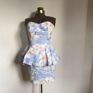 Vintage Plain Jane Peplum Dress